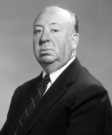 Film director Alfred Hitchcock, 1955 Hitchcock, Alfred 02.jpg