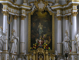 Januarius Zick - Monastery church of Elchingen, high altar