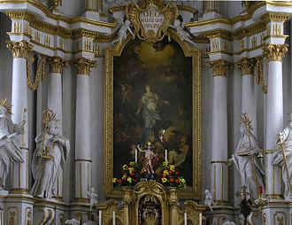 Januarius Zick - Monastery church of Elchingen, high altar