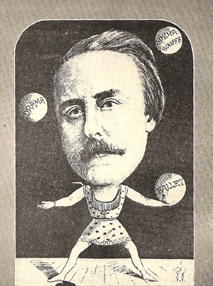 Thespis (opera) - John Hollingshead had a lot of balls in the air: This engraving shows him juggling ballet, opéra bouffe, and drama.