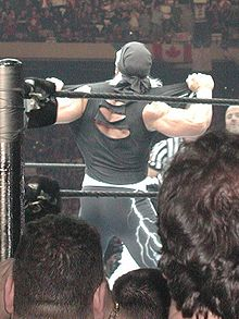 Hollywood Hogan, lors de son entrée à Wrestlemania 18