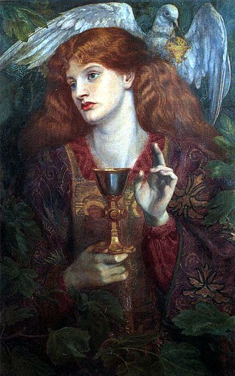 History of fantasy - The Damsel of the Sanct Grael, by Dante Gabriel Rossetti:  medieval romance.