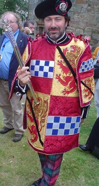 Endure Pursuivant - Alexander Walter Lindsay, Endure Pursuivant to his father, the Earl of Crawford