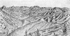 Horseshoe Bend, California - Horseshoe Bend, Merced River by John Muir