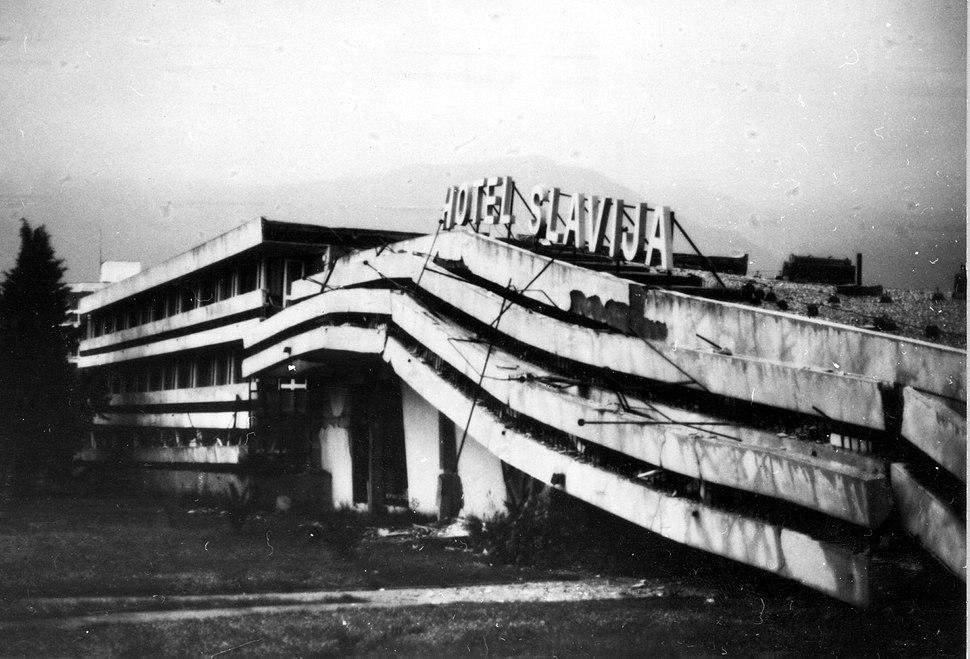 Hotel Slavija, 1979 Yugoslavia Earthquake