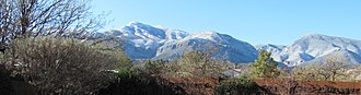 Carr Peak - Carr and Ramsey Peaks in the Huachuca Mountains