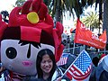 Huanhuan at 2008 Olympic Torch Relay in SF.JPG
