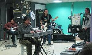Hurd discography - Hurd rehearsing in their Ulan Bator studio in 2009. From left to right : D.Otgonbayar, D.Ganbayar, N.Naranbaatar, D.Tömörtsog.