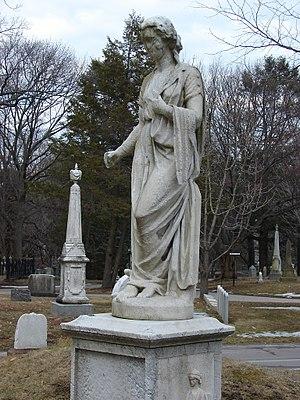 Harriot Kezia Hunt - Hygeia, the Greek goddess of health, carved by Edmonia Lewis c. 1871-1872 for Harriot Hunt's grave