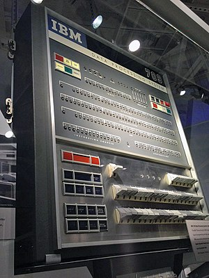 IBM 709 - IBM 709 front panel at the Computer History Museum