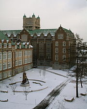 Concordia's Loyola Campus in the winter