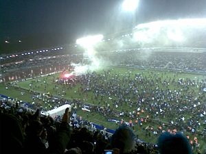 2007 Allsvenskan - Celebration of the IFK Göteborg victory at Ullevi.