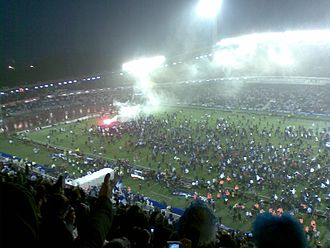 2007 Allsvenskan - Celebration of the IFK Göteborg victory at Ullevi.