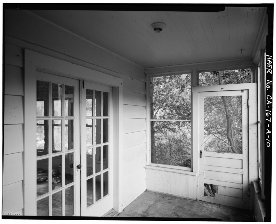 Interior Screen Door : File interior of south side enclosed screen porch showing