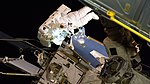 ISS-59 EVA-2 (e) Christina Koch on the Port-4 truss.jpg