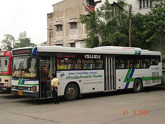 Isuzu Motors - Isuzu LV486R CNG City Bus in Bangkok with the CNG-MPI Engine