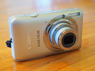 Canon Digital IXUS - A IXUS 115 HS with its lens extended