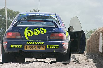 State Express 555 - Subaru Impreza WRC with 555 visible on trunk lid
