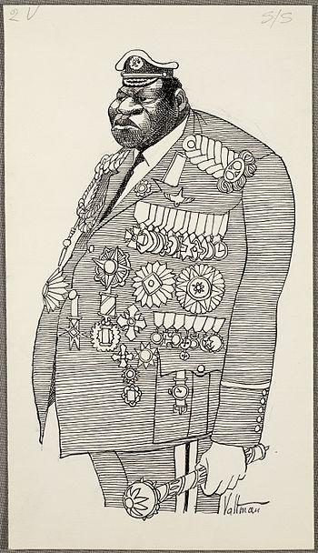 Idi Amin caricature