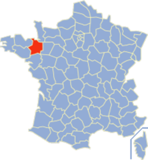Communes of the Ille-et-Vilaine department - Image: Ille et Vilaine Position