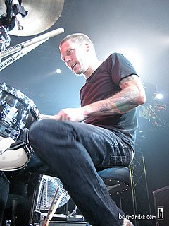 Aaron Solowoniuk drummer for the Canadian band Billy Talent