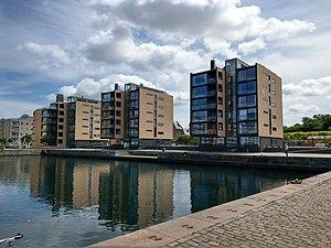Indiakaj - The Schmidt Hammer Lassen-designed apartment buildings fronting the water