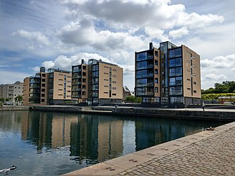 Indiakaj - The Schmidt Hammer Lassen-designed apartment buildings fronting the water