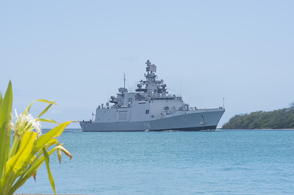 Indian Navy frigate Satpura (F 48) arrives at Joint Base Pearl Harbor-Hickam for Rim of the Pacific 2016