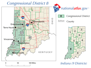 United States House of Representatives elections in Indiana, 2006 - Image: Indiana's 8th congressional district
