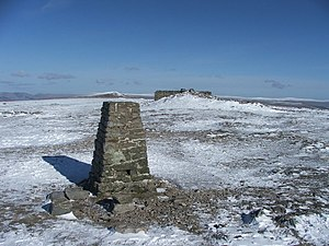 Ingleborough - The trig point and windshelter