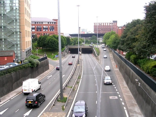 Inner Ring Road - near Clarendon Wing of Leeds General Infirmary - geograph.org.uk - 974686