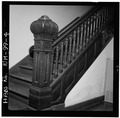 Interior,newel post and bannister - Las Vegas City Hall, 626 Sixth Street, Las Vegas, San Miguel County, NM HABS NM,24-LAVEG,1-4.tif