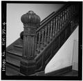 Interior,newel post and bannister - Las Vegas City Hall, 626 Sixth Street, Las Vegas, San Miguel County, NM HABS NM,24-LAVEG,1-4.tif