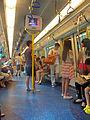 Interior of MTR East Rail Line train, Hong Kong.jpg