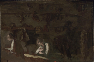 Interior of a Woodcarver's Shop (Sketch for William Rush Carving His Allegorical Figure of the Schuylkill River)