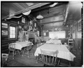 Interior of dining room - Trail Shop, Lodge, 2750 North Fork Highway, Cody, Park County, WY HABS WYO,15-CODY.V,3G-7.tif