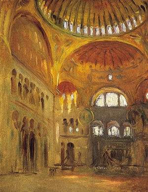 Speed Art Museum - John Singer Sargent, Interior of the Hagia Sophia, 1891