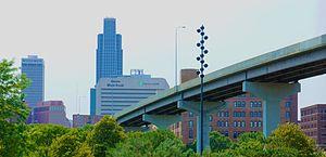 Interstate leaving Omaha