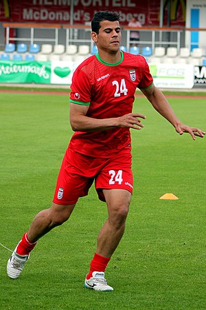 Ahmad Alenemeh - Alenemeh before Iran's match against Montenegro, 26 May 2014