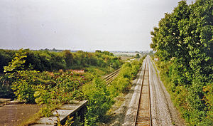 Irchester railway station - Station remains in 2002