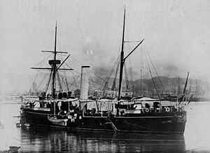 Spanish cruiser Isla de Luzón - Isla de Luzón in the late 1880s.