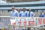 Israeli National Defence College delegation visits INS Kochi.jpg
