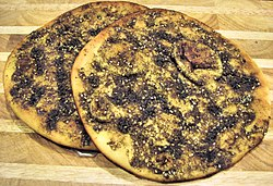 Manakish made with za'atar