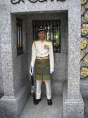 Malaysian Armed Forces - Royal guard of the Malaysian Army outside the main gate of the Istana Negara, Kuala Lumpur