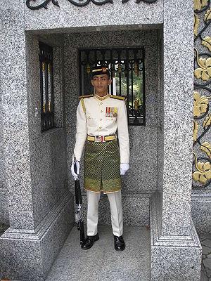 Malaysian Armed Forces - Royal guard of the Malaysian Army outside the main gate of the Istana Negara, Kuala Lumpur