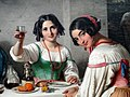 Italian Osteria Scene, Girl welcoming a Person entering, detail, by Wilhelm Marstrand - Ny Carlsberg Glyptotek - Copenhagen - DSC09272.JPG