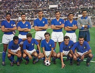 Italy national football team - The Italian national team in 1965