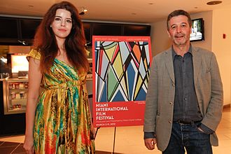 Blood of My Blood (2011 film) - Actress Anabela Moreira and director João Canijo for Blood of My Blood at the Miami Film Festival (2012)