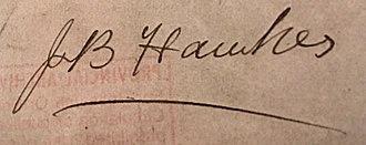 James B. Hawkes - Image: J.P.Hawkes