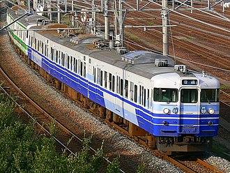 Hakushin Line - Image: JRE 115 nigata